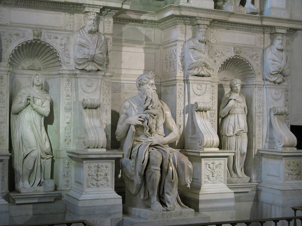 Moses by Michelangelo in San Pietro in Vincoli  ROME