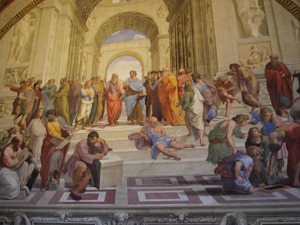 School of Athens by Rafael, in Vatican Museum.