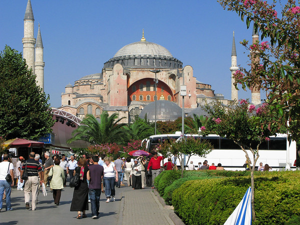Haga Sophia - A church in 450 AD, converted to a Mosque and now a museum.