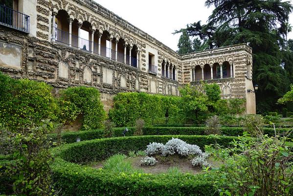 Gardens of the Alcazar in Seville