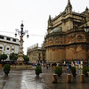 Seville Cathedral in the rain.