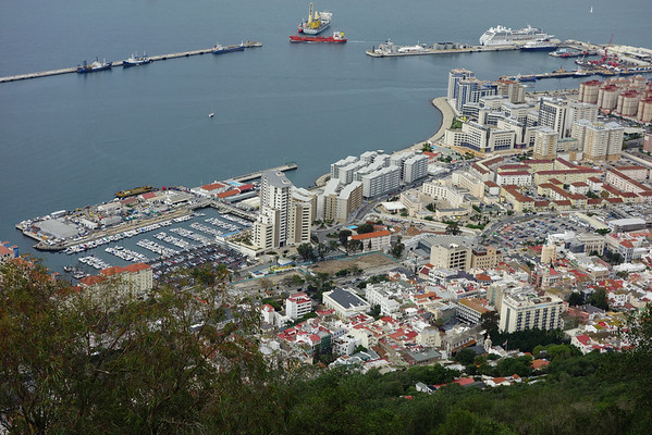 Gibraltar - Gibraltar with the Azamara Quest in the distance.
