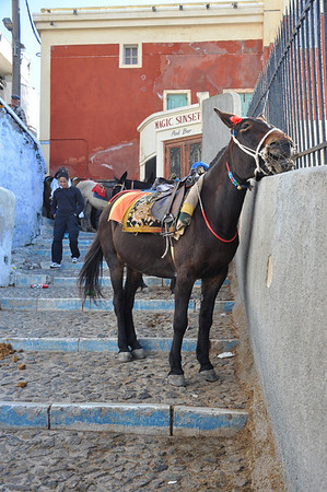 At least there's a spot to scratch your chin. Santorini, Greece