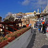 Shopping, restaurant, and the town. Santorini, Greece