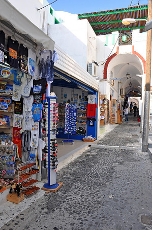 Tourist souvenir shops.  Santorini, Greece