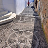 Intricate pathway designs. Santorini, Greece
