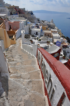 Steps lead everywhere. Santorini, Greece