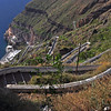 The zigzag path from above, a strenuous climb. Santorini, Greece