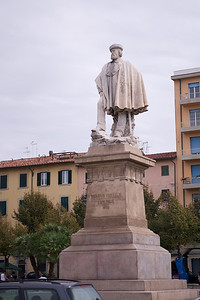 "Statue of Giuseppe Garibaldi, one of the four Fathers of the Fatherland""."
