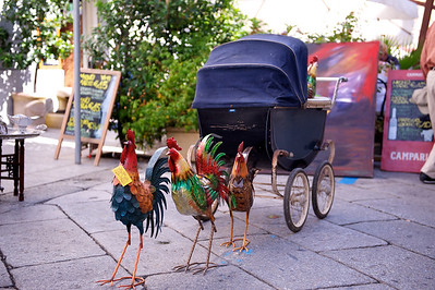 Chicken powered stroller