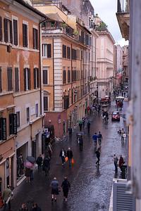 Via Frattina, from the Residenza Frattina