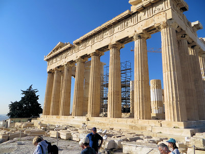 At the time of the Parthenon's construction, Athens was a rich and powerful city state.  Just 30 years before, the Persians had sacked the city and destroyed an older temple to Athena on this spot.  Now, however, the Athenians had had their revenge, defeating the Persians and ascending to the preeminent position among Greek city states.  They wanted to make a statement.  Their leader, Pericles , convinced them that he could build a magnificent temple, on time and within budget.  And he did.