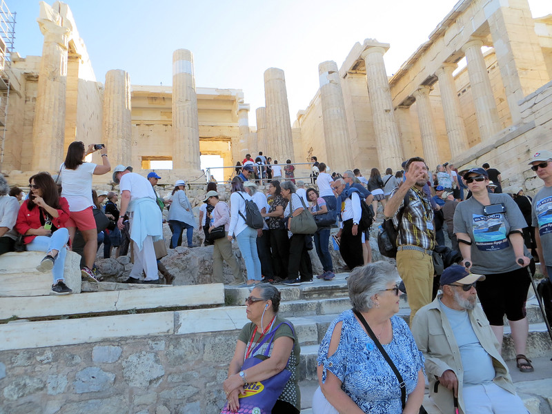 Your visit to the Acropolis will likely not be a solitary experience!  We were just lucky to be there at the end of the tourist season instead at the height of it.
