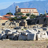 This picture shows how close the ruins of the ancient city are to the modern city of the same name.