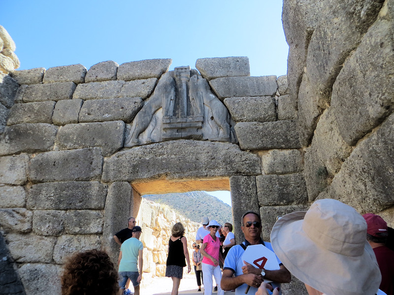 Visitors enter the site through the famous Lion Gate.  This is a truly huge structure, almost as wide as it is high.  The opening would have been closed by a set of wooden double doors.