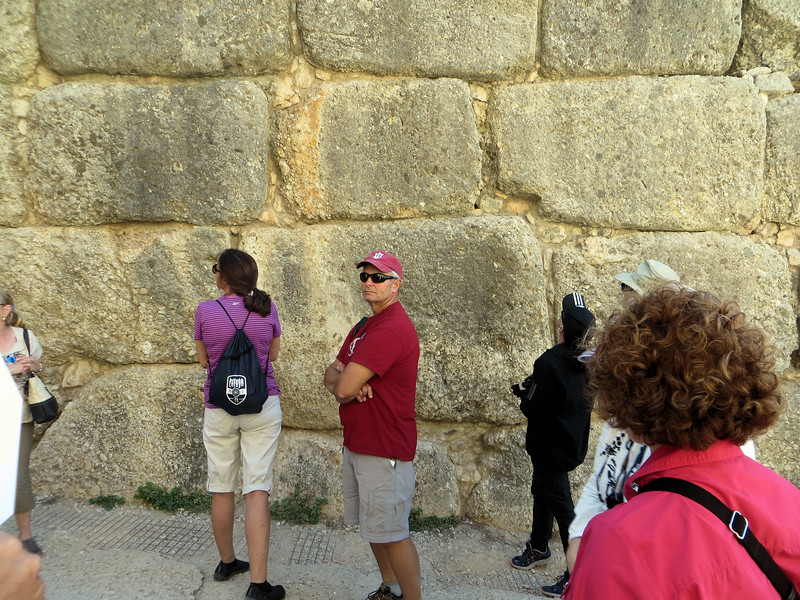 I include this picture to illustrate the size of the stones used to build the fortifications.  The Myceneans did not do things by halves.