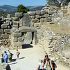 Looking back at the Lion Gate.  The path from the gate runs all the way up to the top of the acropolis.