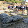 The altar of Hera.  Standing in front of the Temple of Hera, and close to the entrance to the stadium, these rough looking stones are what connects the modern Olympic games to their ancient ancestors.  Since 1936, this is where the ceremonial Olympic torch is lit.  A few months before the Games begin, local women dressed as priestesses assemble to ignite a flame, using a cauldron-shaped mirror to focus the rays on the sun.  The women carry the flame into the stadium, where runners will light a torch and set off on the long relay to the city that is hosting the Games.   For Pyongchang, South Korea, host of the 2018 Winter Games, that is a journey of 9,000 miles.  To Tokyo, host of the 2020 Summer Games, it is 6,000 miles.