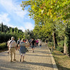 Walking into the ancient sanctuary of Olympia.  Human settlement in this area dates back to the 3rd millennium B.C., but it is best known as the Greek religious center dedicated to Zeus--and the site of the original Olympic games.  The games took place here every 4 years for more than a thousand years, 776 B.C. to 393 A.D.