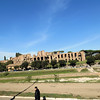 The Circus Maximus.  The Romans held chariot races here, as well as other spectacles.  There was a stadium that held up to 150,000 spectators.  Just beyond is the Palatine Hill, the center-most of the Seven Hills of Rome.