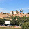 The Palace of Domitian is the structure that can be seen on the Palatine Hill.