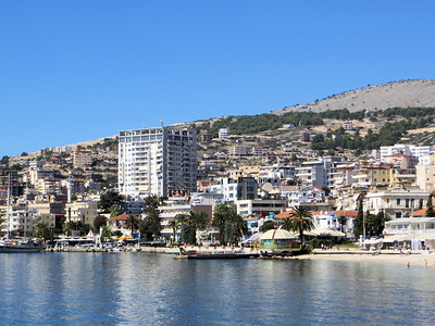 Saranda has been marketing itself, with some success apparently, as a holiday destination for people from all over Europe.  It isn't as crowded as some of the more popular Mediterranean ports.  Cruise ships like ours stop here as well.  Also the island of Corfu is a short boat ride away.