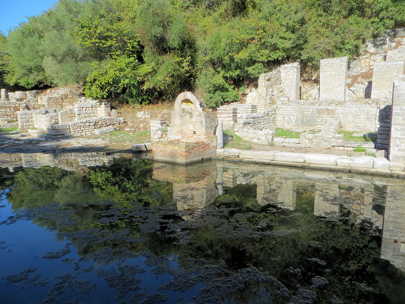 A small fountain, dating from Roman times, which stood next to the shrine of Asclepius.