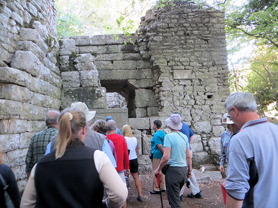 Approaching the Lion Gate, another one that dates from the 4th century B. C.  The original structure of the gate has been somewhat modified by the addition of a tower in medieval times.