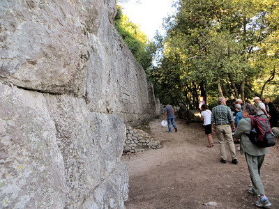 After walking around in the ruins of the city, it was time to climb to the top of the hill.  These walls date from the 4th or 3rd century B. C.