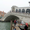 Its distinctive shape has made the Rialto Bridge over the Grand Canal famous.  It is always crowded with people.