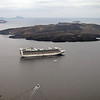 "The cruise ship 'Star Princess"" taken from Santorini."
