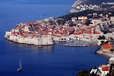 Here is your typical postcard view of Dubrovnik Croatia.  Our shore excursion took us along those walls you see along the coast.