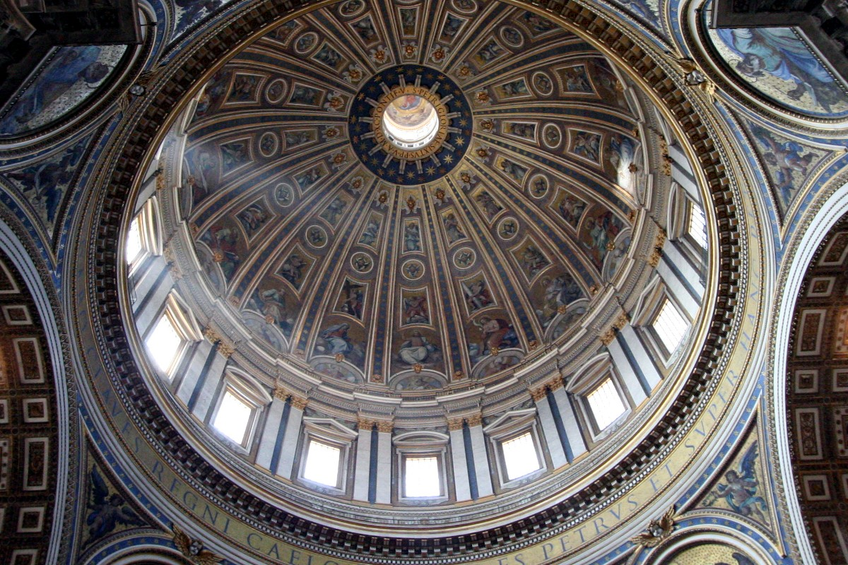 One of the domes from the inside.