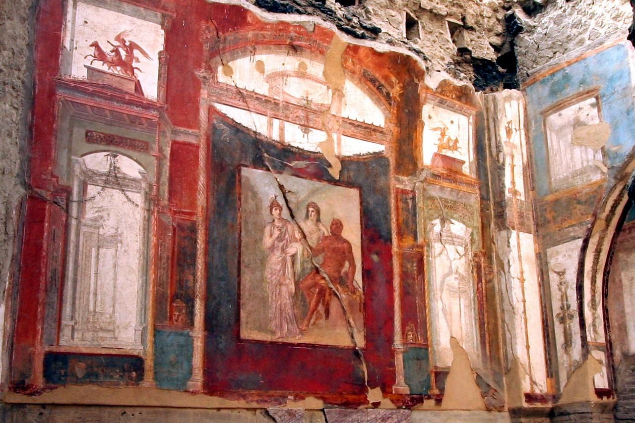 Amazingly well-preserved fresco.