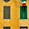 Six windows, Lucca, Italy