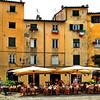 Ristorante in the Piazza, Lucca, Italy