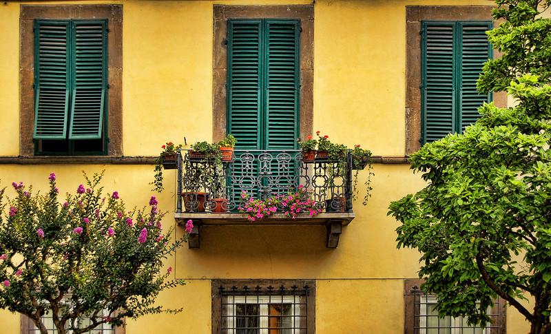 Balcony, Lucca, Italy