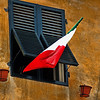 One flag, Lucca, Italy