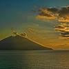The island of Stromboli, Italy