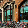 Bikes and bank, Lucca, Italy