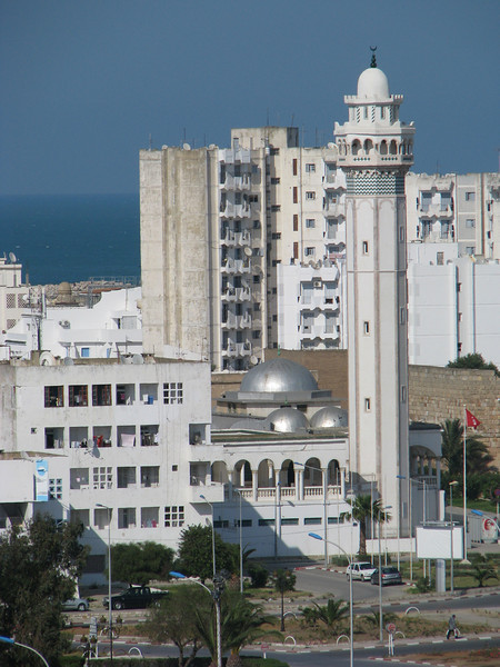 Mosque in La Goulette, Tunisia; white;