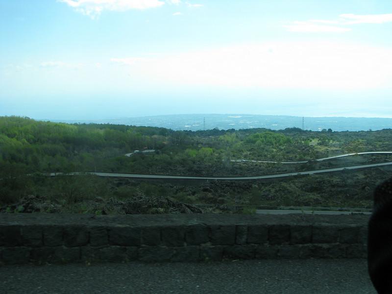 Road up Mount Etna, Sicily