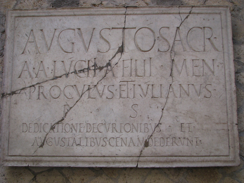 Sign in Herculaneum