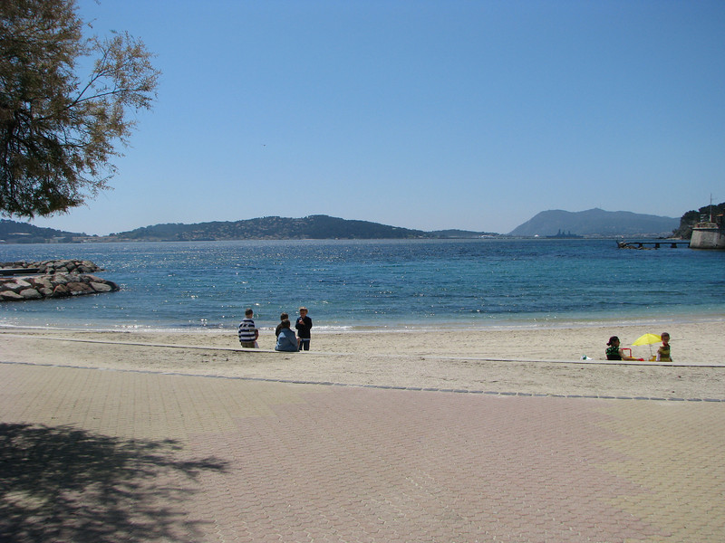Beach in Toulon, France