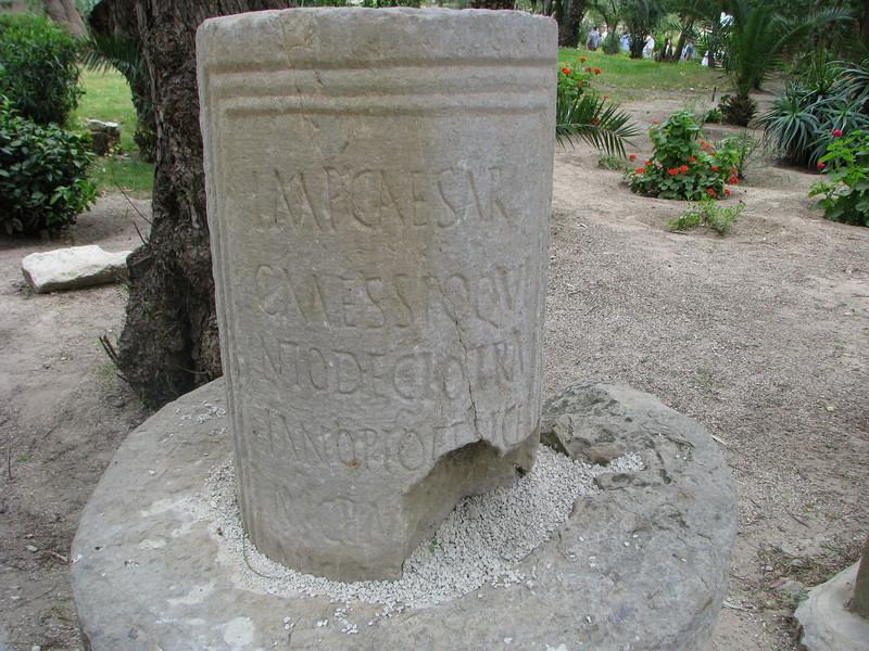 Sign at the Roman Antonine Baths