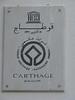 Sign outside ruins of Carthage