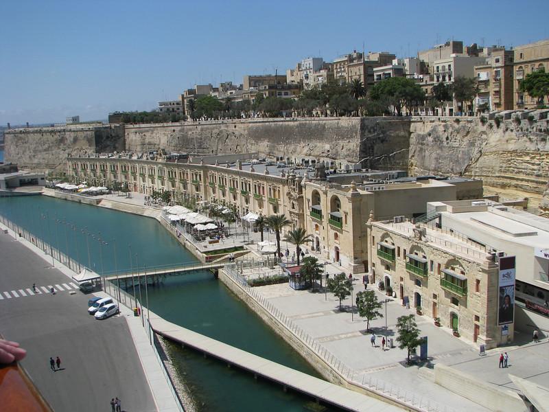 Waterfront in Valletta, Malta