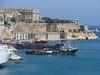 Ships in port in Valletta, Malta