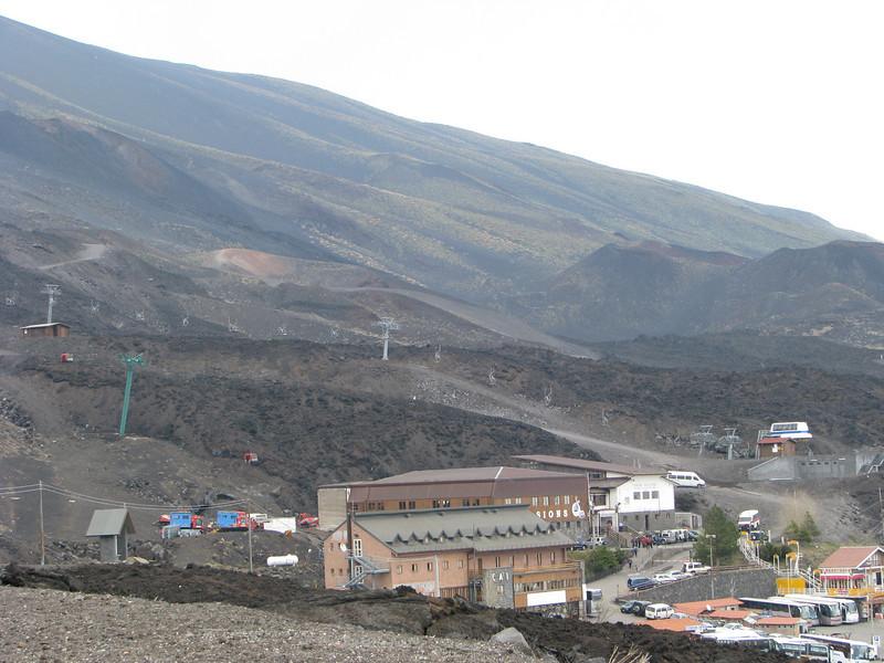 Ski lift on Mount Etna, Sicily