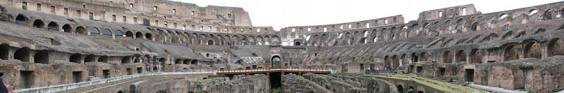 Panorama of the Colosseum